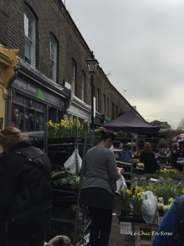 Flower market stalls fill the streets