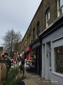 Shops and cafes Colombia Road