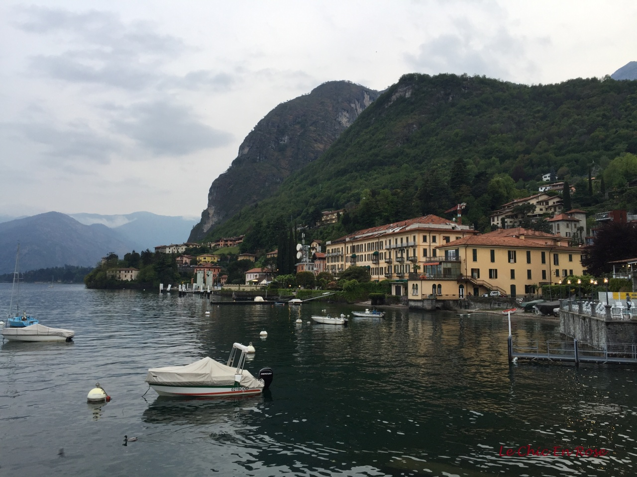 View back to Grand Hotel Menaggio From The Harbour