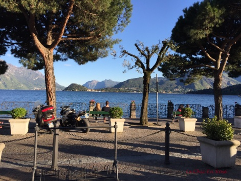 View From Cafe Del Pess Out To Lake Como