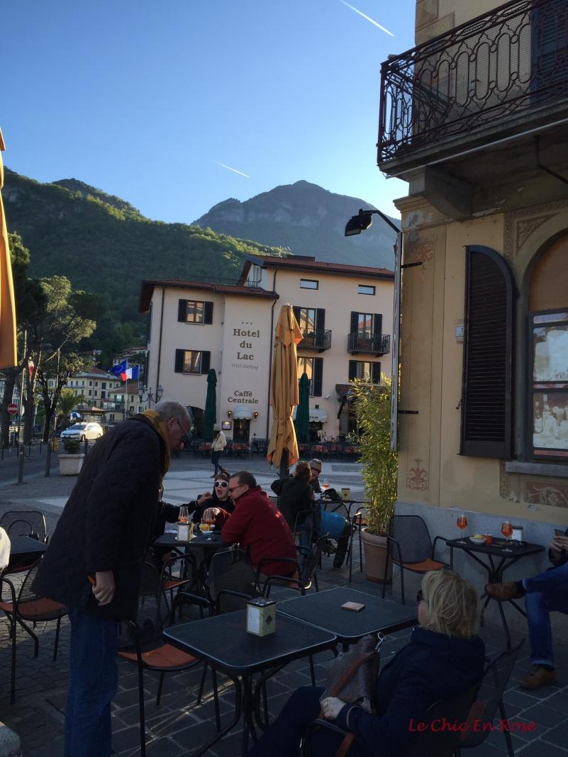 Sitting Outside The Cafe Del Pess Aperitivo Hour Menaggio