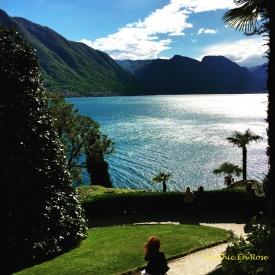 View Of Lake Como from the terraced gardens of Villa Balbianello