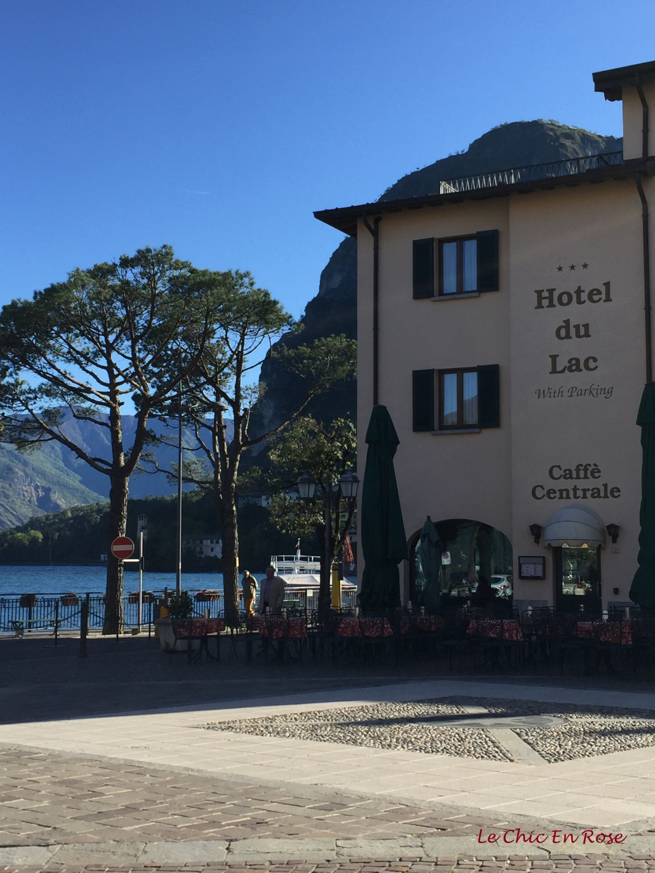 View Across The Square To Hotel Du Lac Menaggio