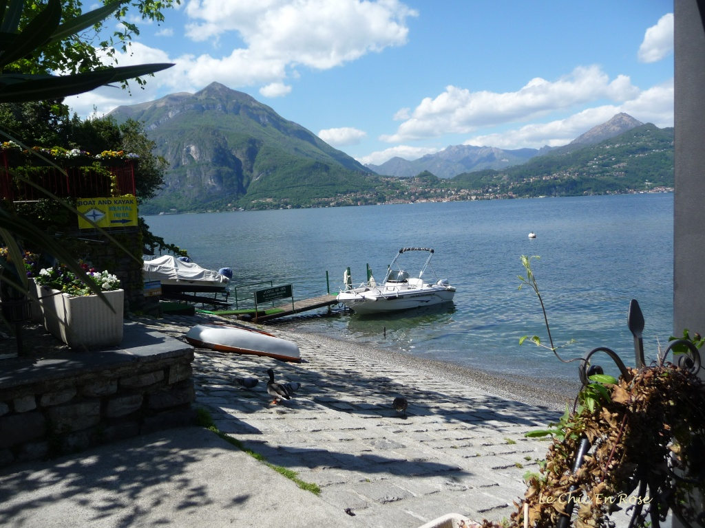 Gently lapping waters on the shore of Lake Como at Varenna