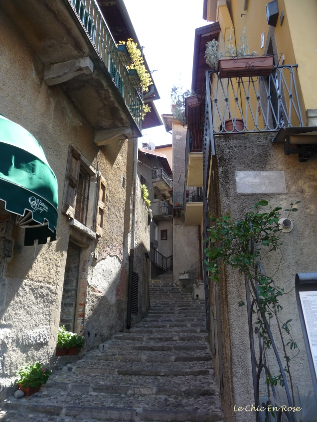 Steep and narrow passageways are a feature of Varenna