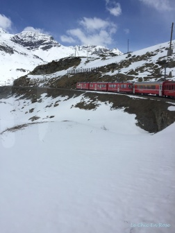 The Bernina Express Ascending The Bernina Pass Switzerland