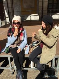 Chiavenna Enjoying Gelato