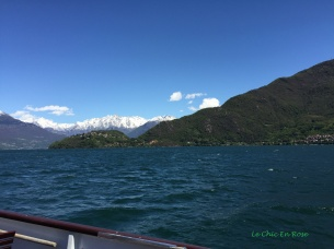 Northern Lake Como With Alps In The Background