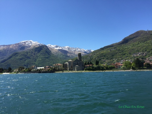 Sailing Past Dongo North West Of Lake Como