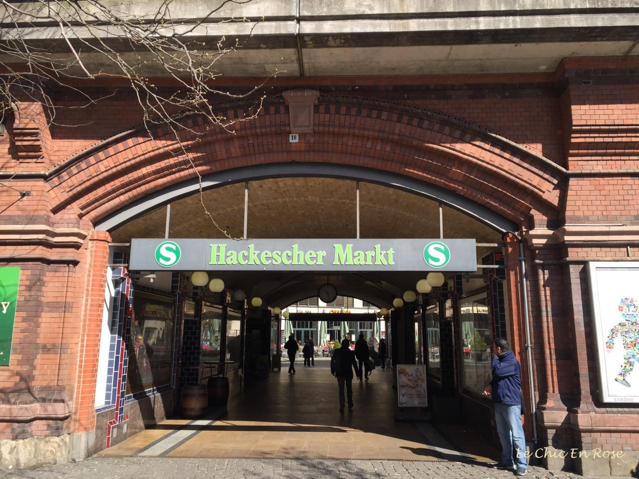 Hackescher Markt S Bahn Entrance Berlin