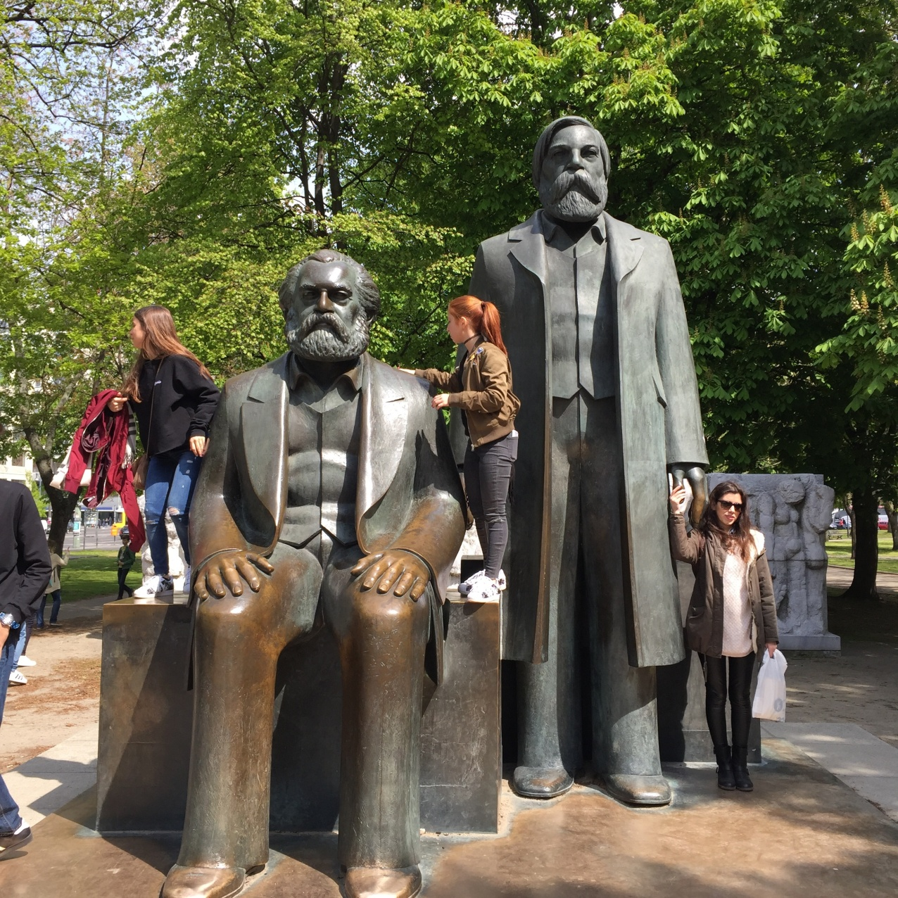 Statues in Marx-Engels Forum Berlin