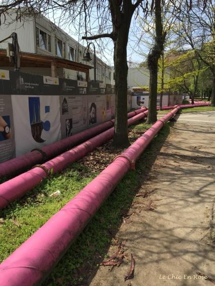 Pink Pipes - Street Near Nikolaiviertel Berlin