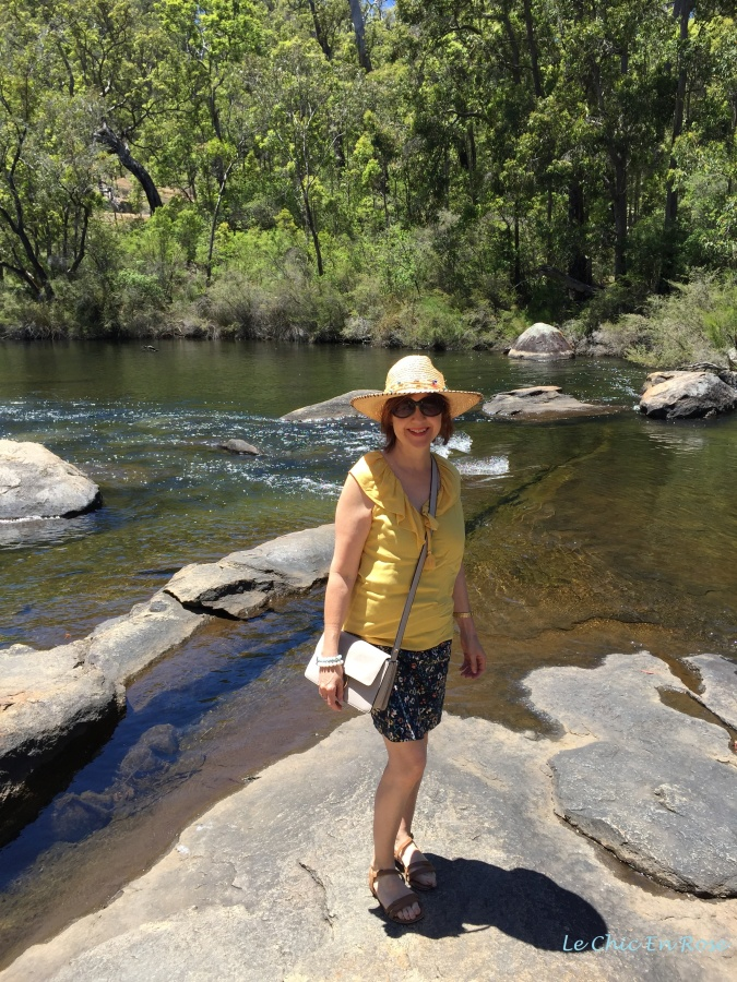 On the rocks by the Collie River