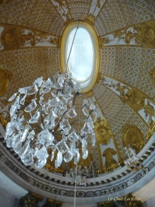 Chandelier Hanging From The Domed Ceiling Of The Marmorsaal (Marble Hall)