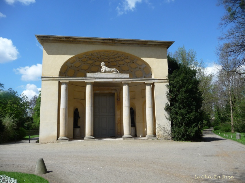 Statue Of Egyptian Sphinx - Entrance To The Orangerie Neuer Garten Potsdam