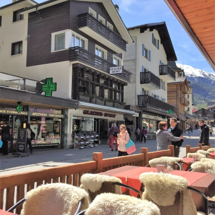 High street Zermatt Switzerland