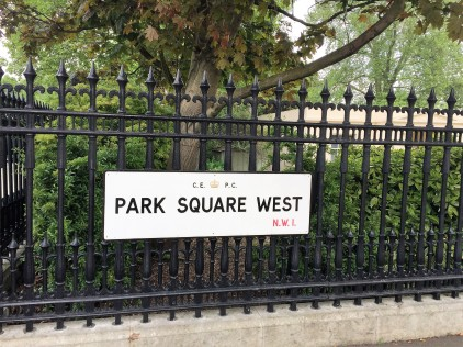 Street sign - Park Square West