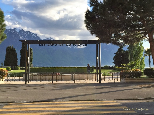 Palace Gardens - opposite the Montreux Jazz Cafe