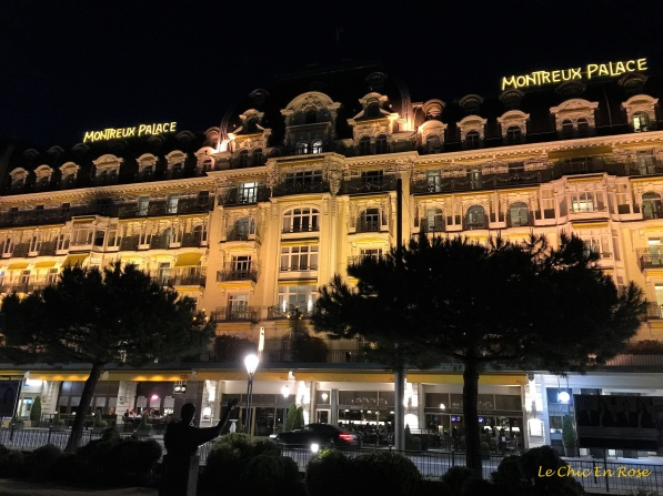Montreux Palace Hotel By Night
