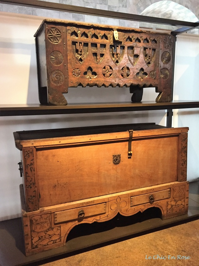 Old wooden chest and trunks