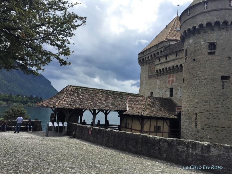 Arriving at the Chateau de Chillon