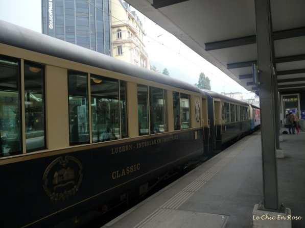 Pullman coaches in Montreux Station