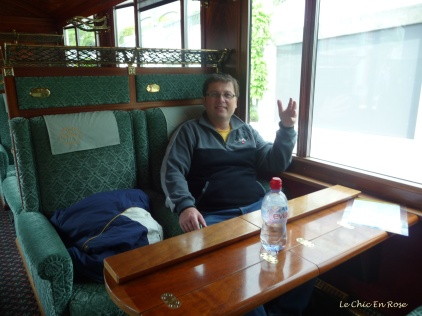 Monsieur in the Pullman seats