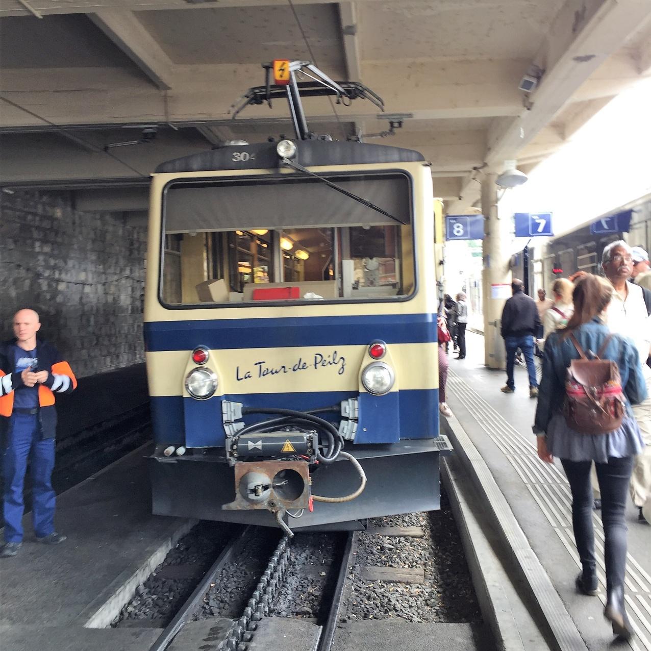 Train to Rochers de Naye