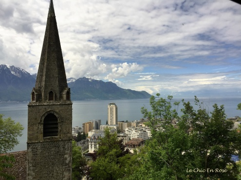 Climbing up from Montreux
