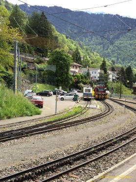 The mountain railway line