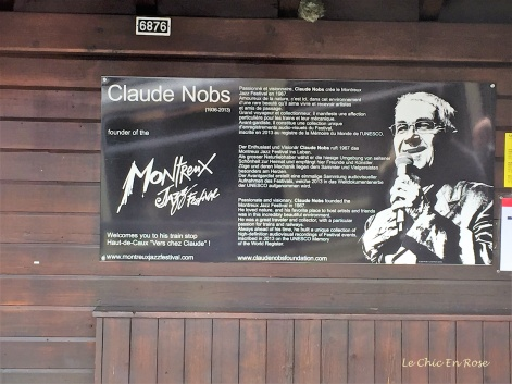 Advertising for the Montreux Jazz Festival at one of the little stations