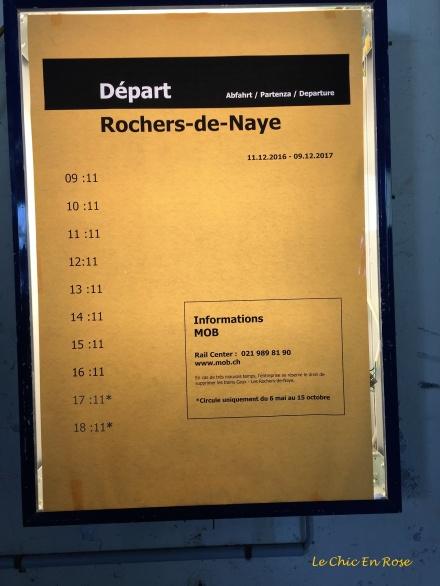 Timetable Rochers de Naye