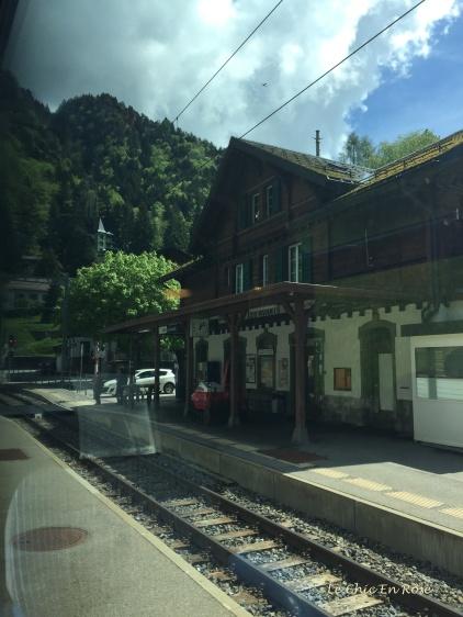 Station at Les Avants