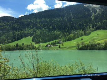 View of an alpine lake near Gstaad
