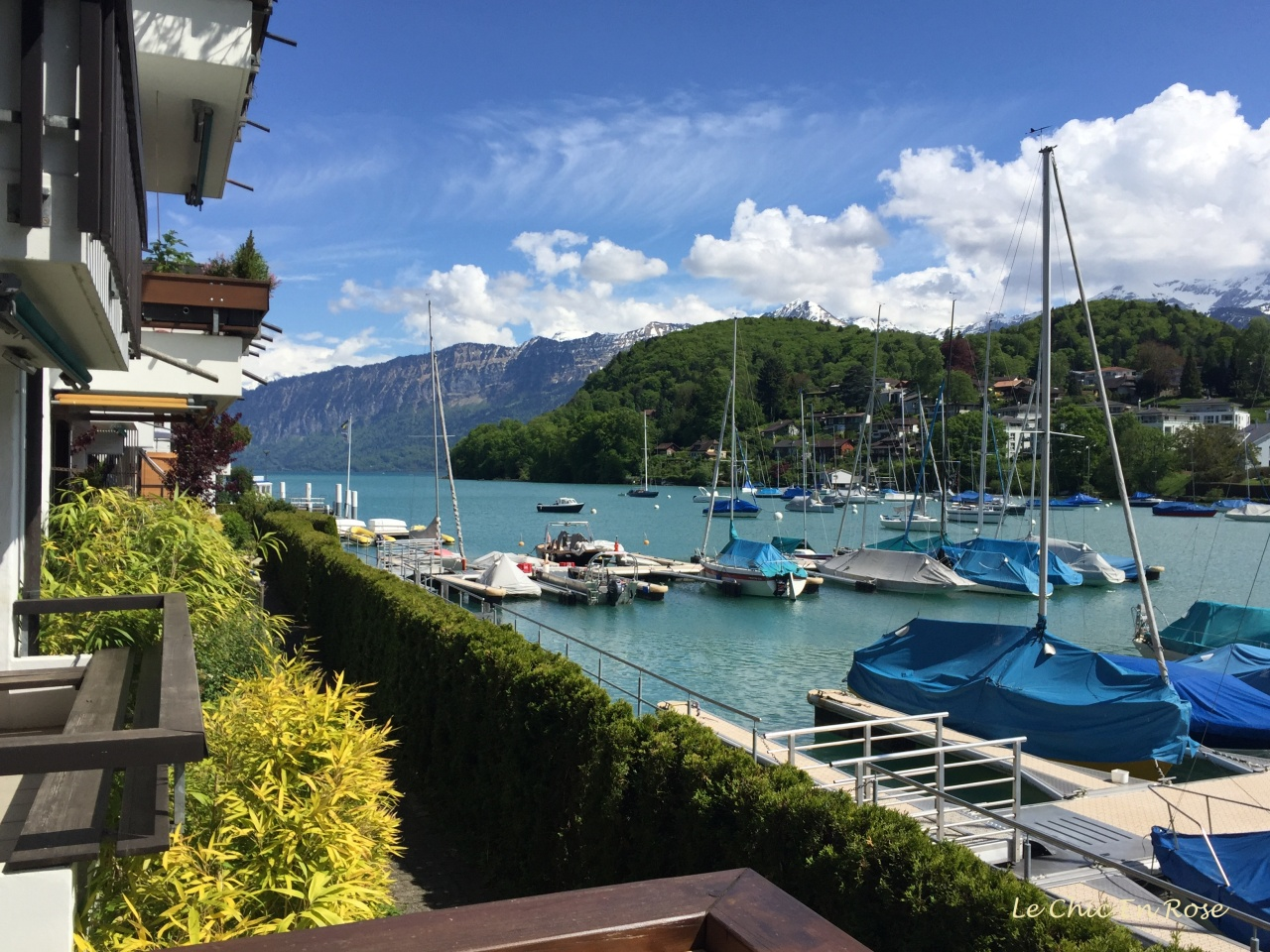 Spiez on Lake Thun Switzerland