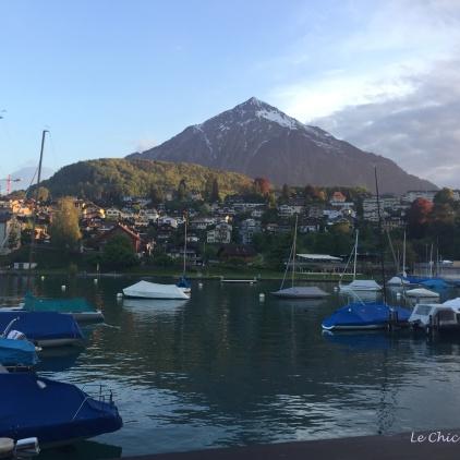 Mt Niesen above the harbour