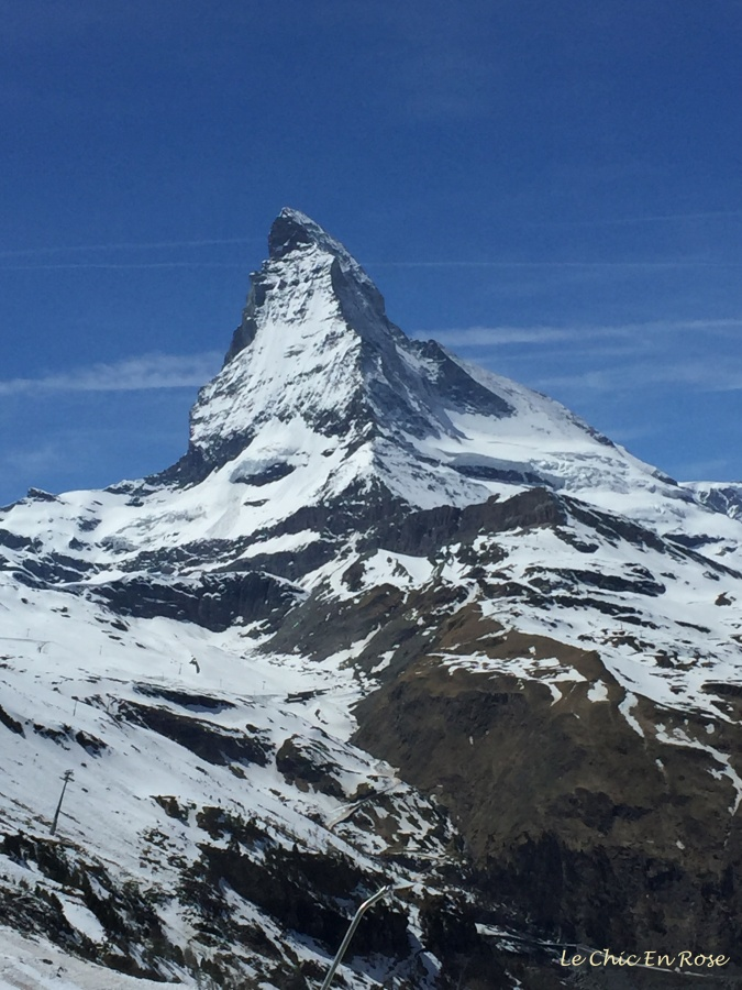 Matterhorn towers over the other mountains