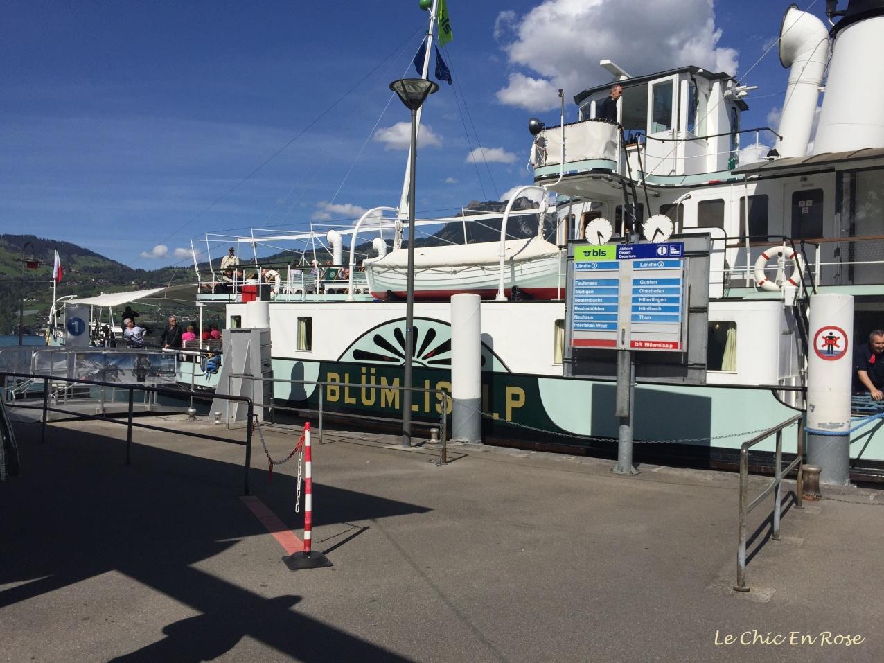 Docking at Thun