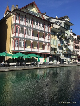 Historic buildings by the River Aare in Thun