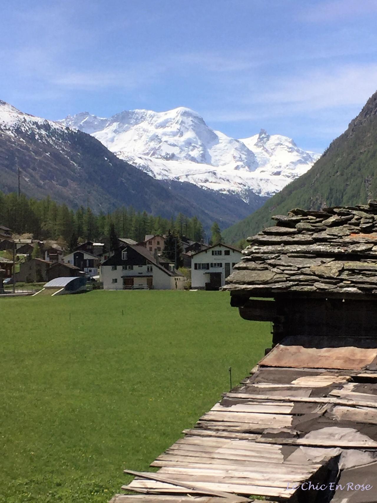 Alps near Zermatt - heading up the Matter Valley