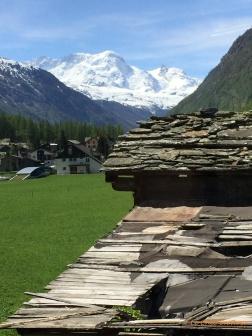 High Alps in the distance - near Zermatt