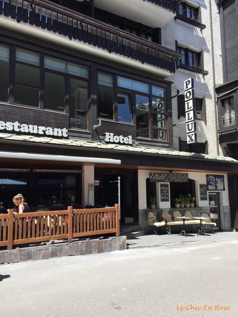 Hotel Pollux Zermatt - outside terrace
