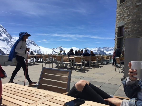 Sun Terrace Kulm Hotel - Excuse Mlle's knees in foreground!