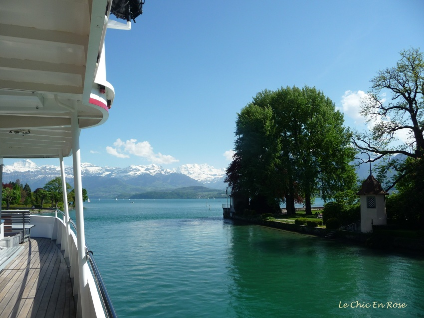 Heading up the channel to Thun