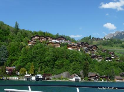 Swiss houses overlooking Thunersee