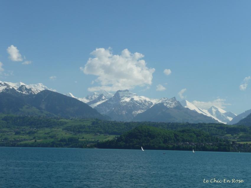 Lake Thun - view towards Jungfrau Massif