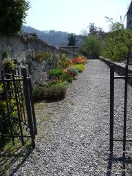 Flowers in castle gardens