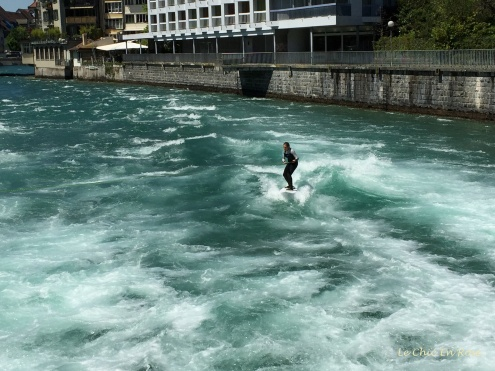 Water skier on the river