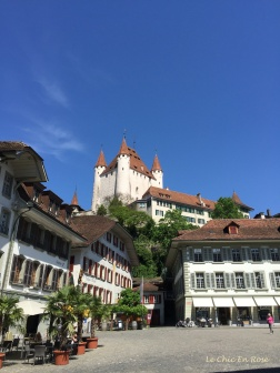 Thun Castle on the hill
