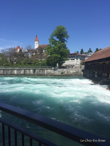 Fast flowing waters of the Aare